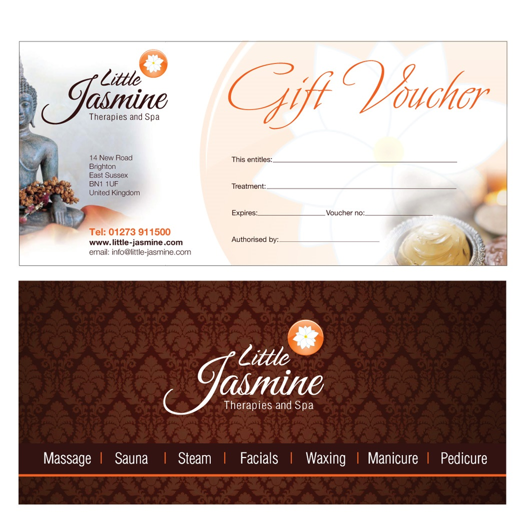 Design Gift Vouchers Free  Free Voucher Design Template